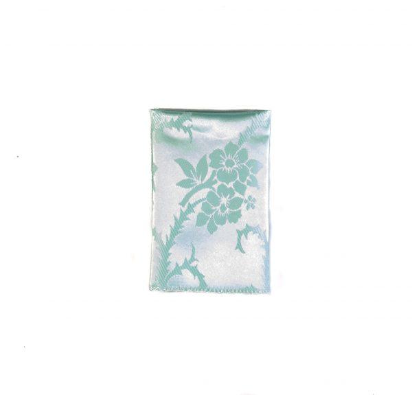 خریددستمال جیب طرح گلدار رنگ آبی فیروزه ای کد PS1043پوشت اکسسوری آقایان٬
