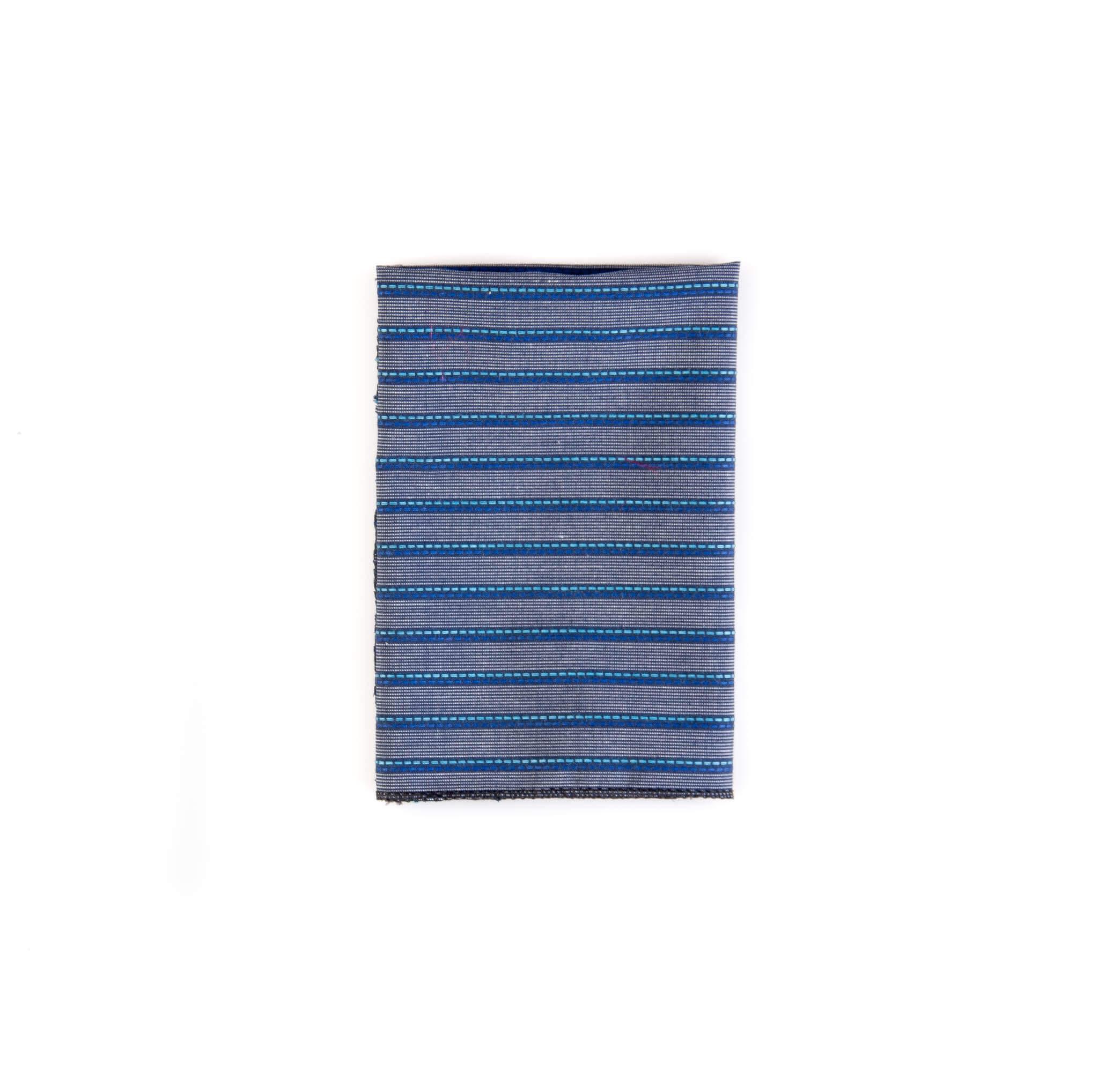 دستمال جیب طرح راه راه رنگ آبی-طوسی کد PS1046