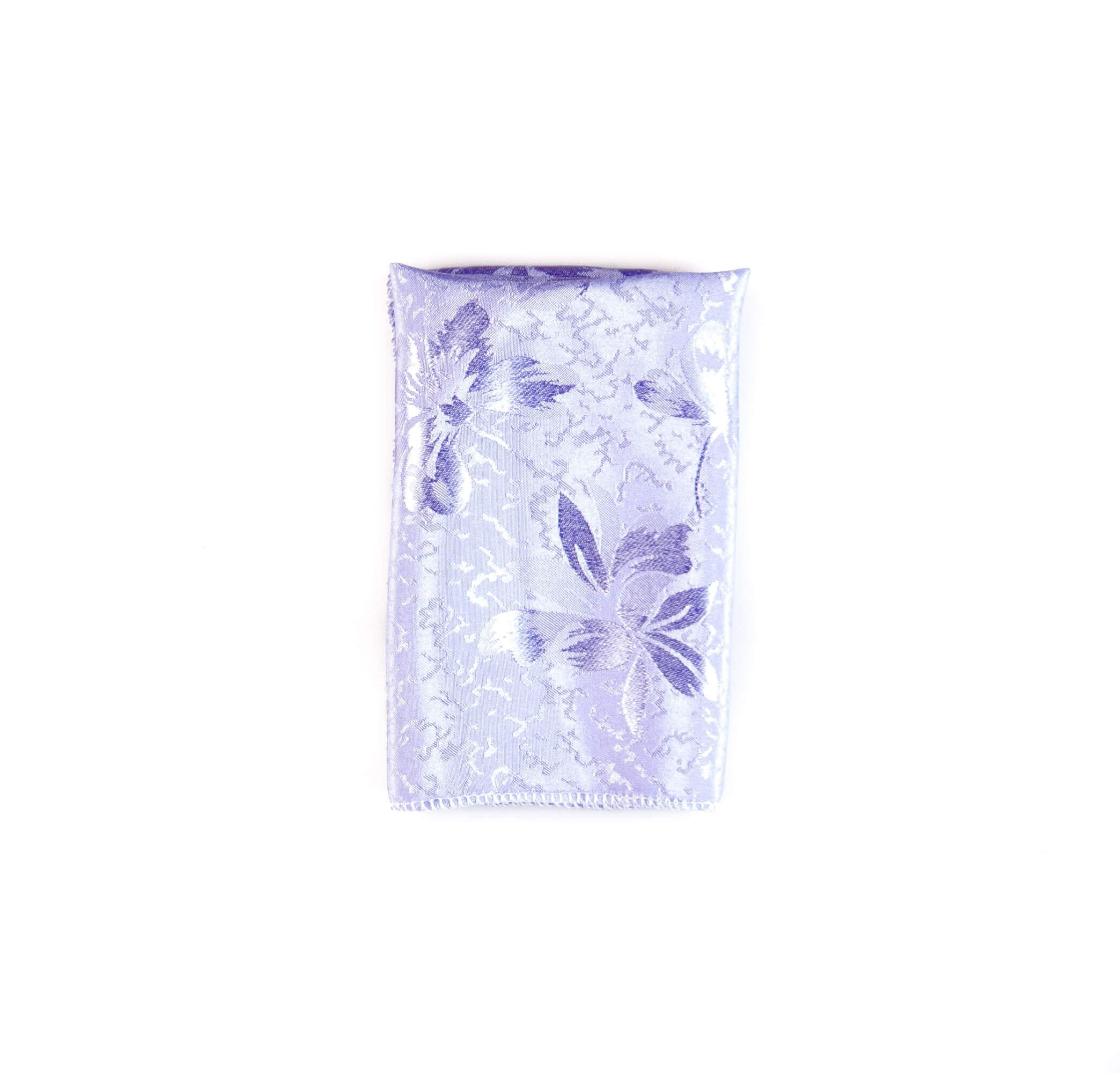 دستمال جیب طرح گلدار رنگ بنفش روشن کد PS1053