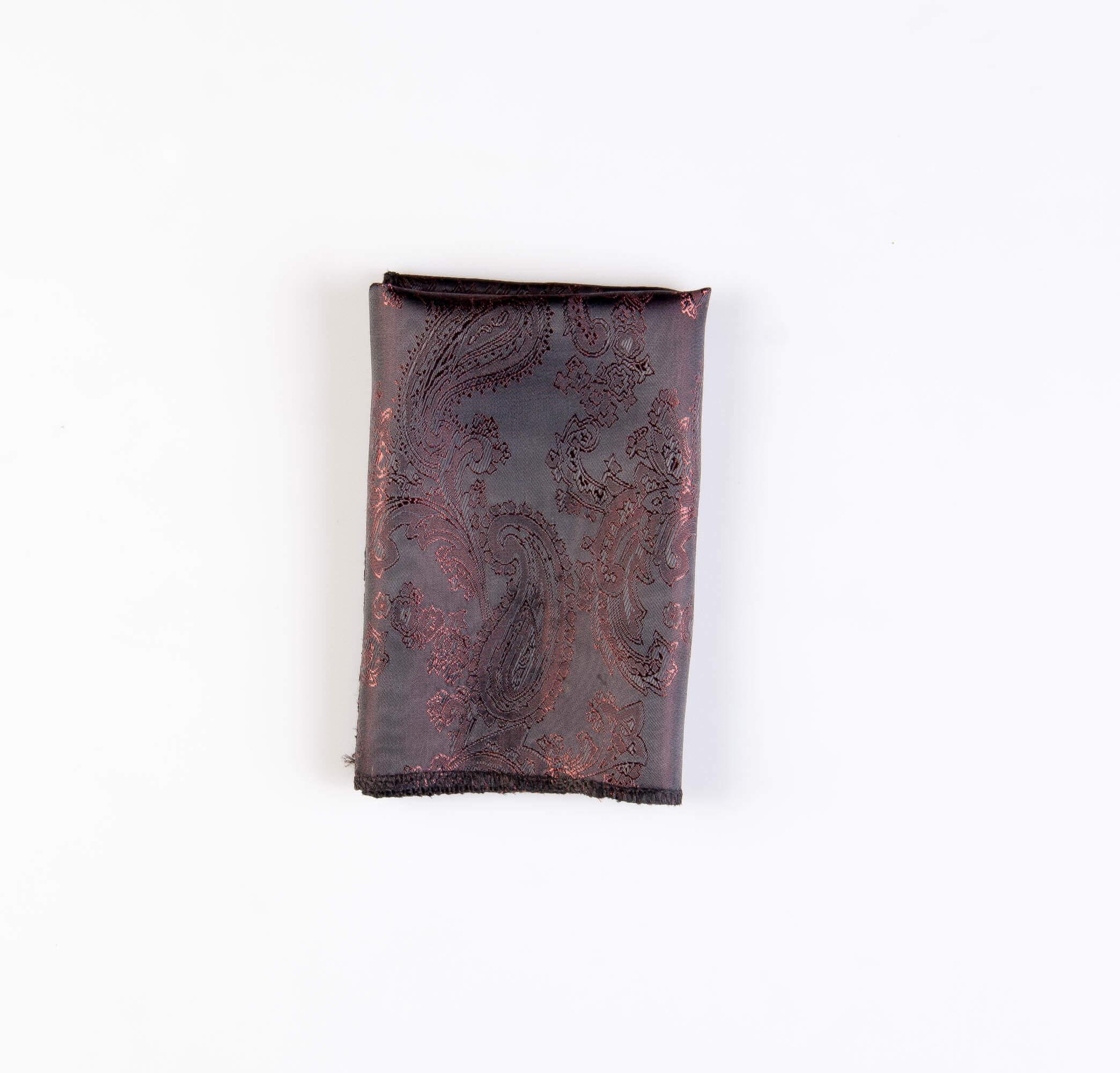 دستمال جیب طرح گلدار رنگ قهوه ای کد PS1066