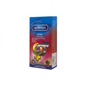 کاندوم اپتیمکس 12 عددی مدل Excitedکد CO1076