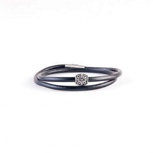 دستبند چرمی-فلزی مردانه MM1003