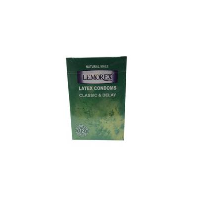 کاندوم LEMOREX بسته 12عددی مدل ساده و تاخیری کد CO38