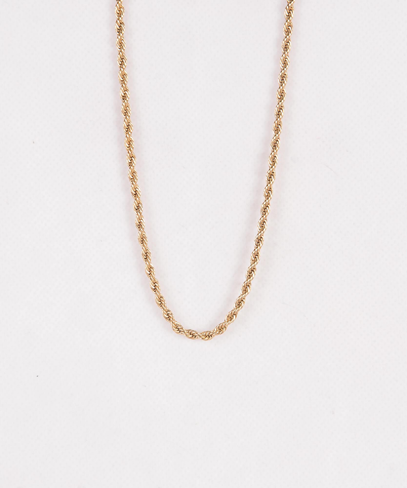 گردنبند مردانه استیل طلایی NC1003