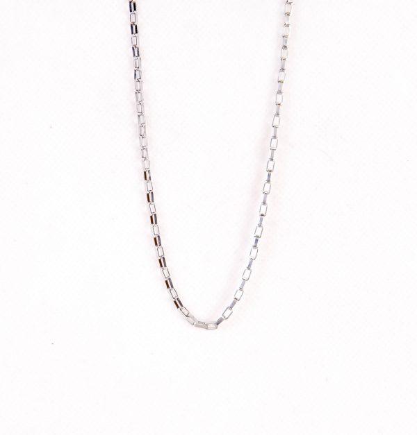 زنجیر گردن مردانه استیل نقره ای خرید گردنبند از ایشومر