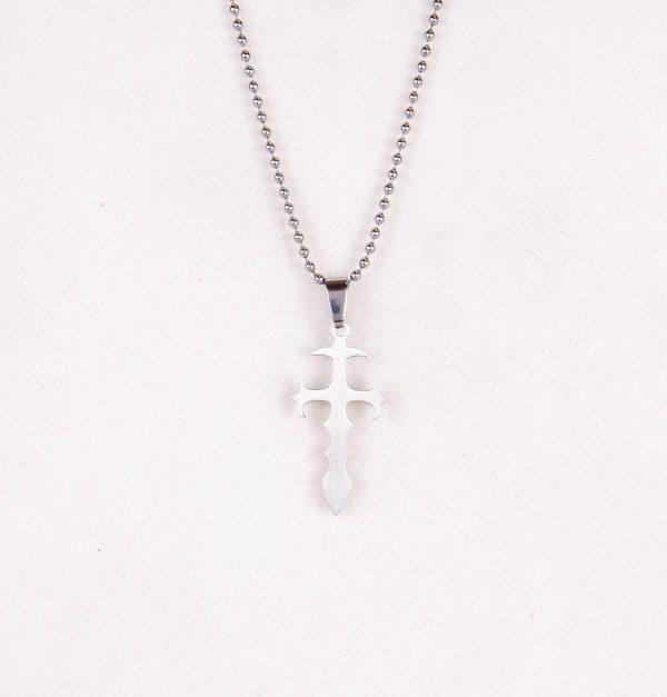 گردنبند مردانه استیل مدل صلیب