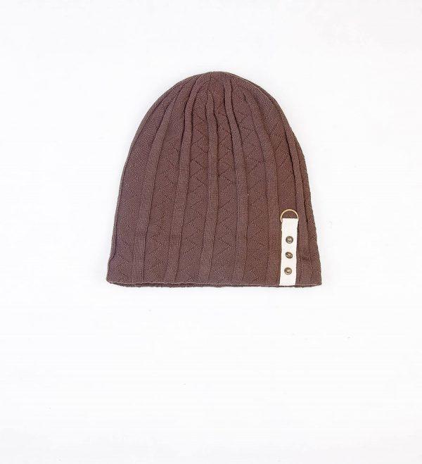 کلاه طرح دار مردانه GUAN YANG - پشمی HW1002