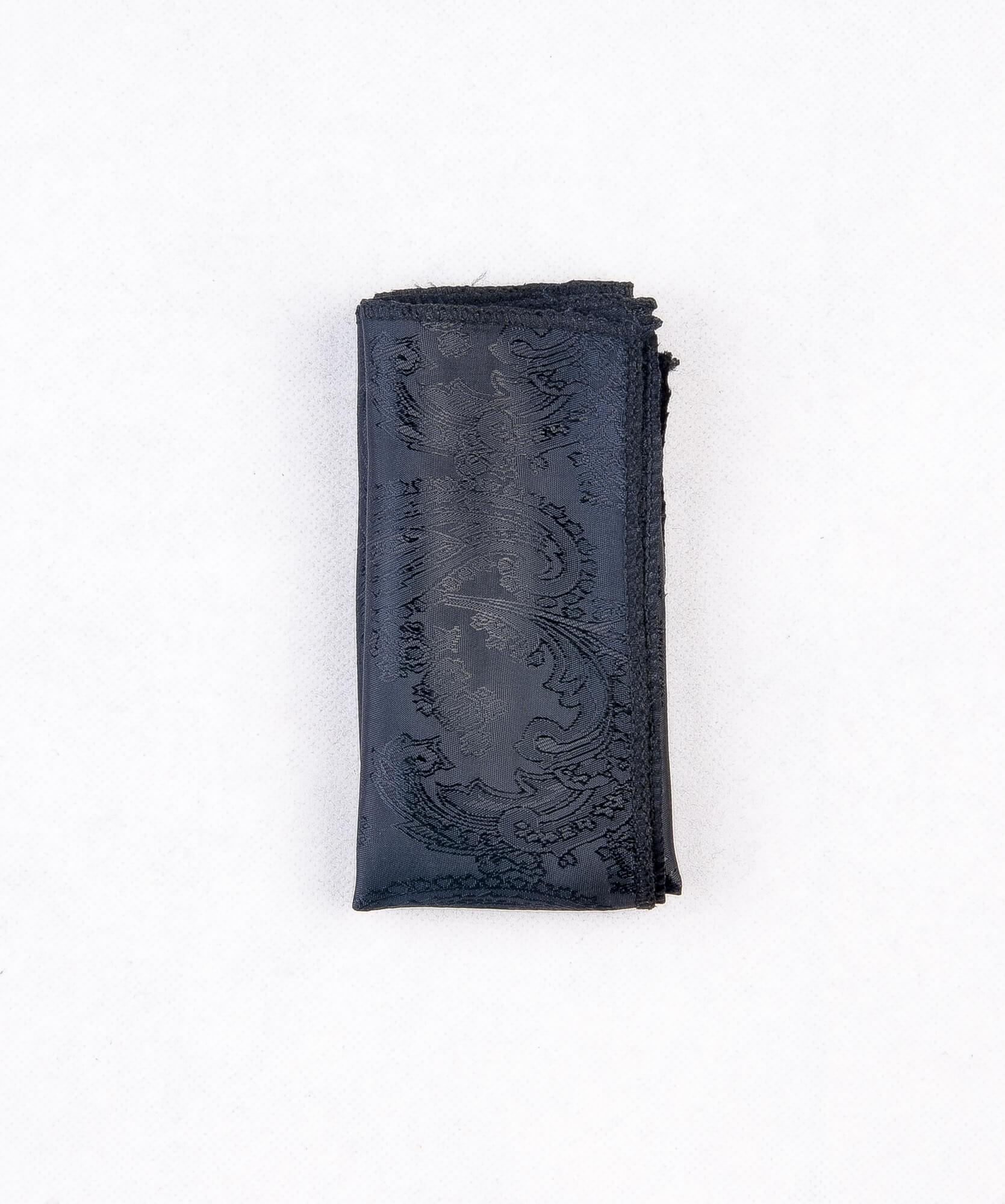 دستمال جیب طرح دار رنگ مشکی PS1023