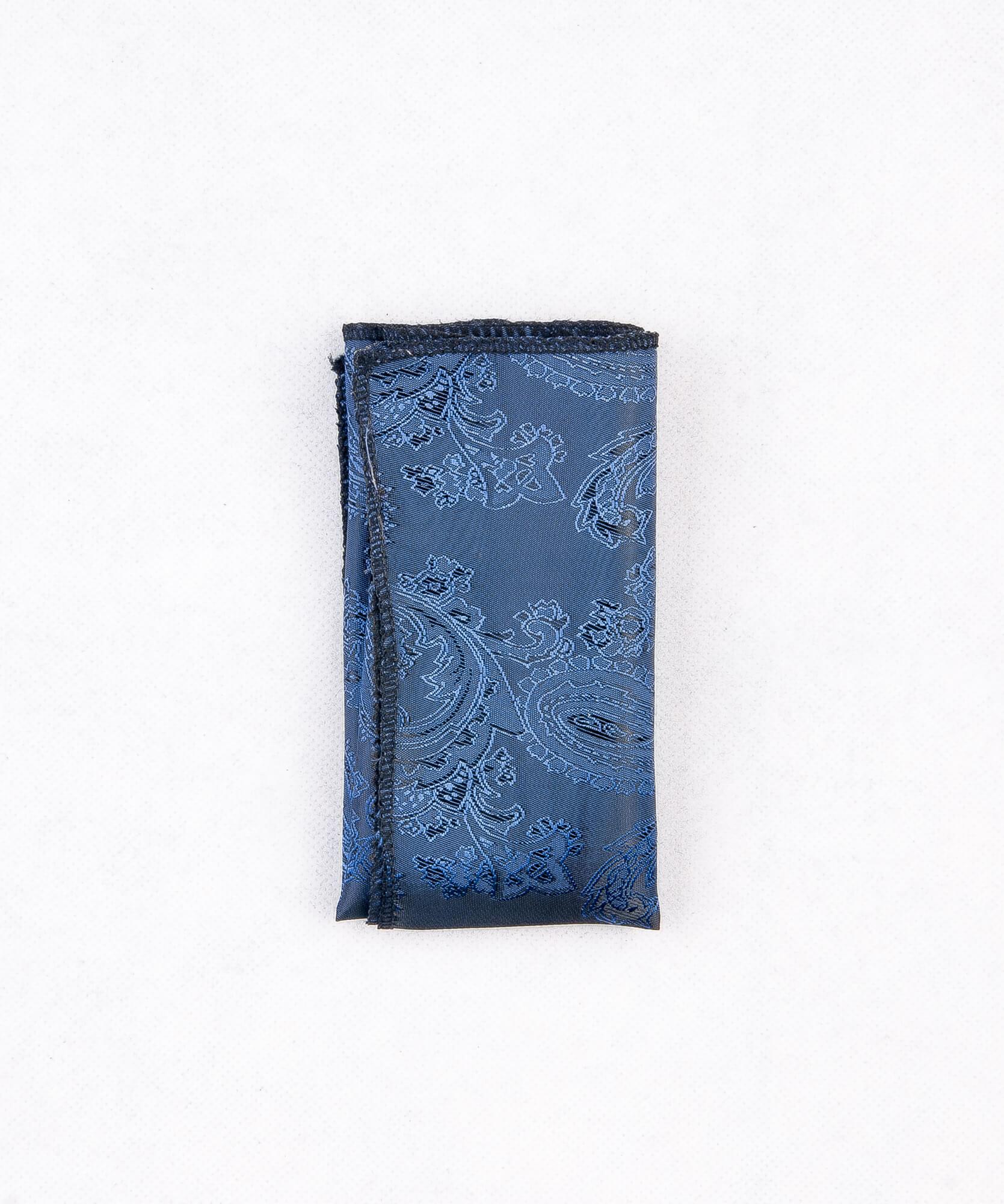 دستمال جیب طرح دار رنگ سرمه ای PS1021