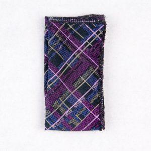 دستمال جیب طرح دار رنگ مشکی-بنفش PS1016