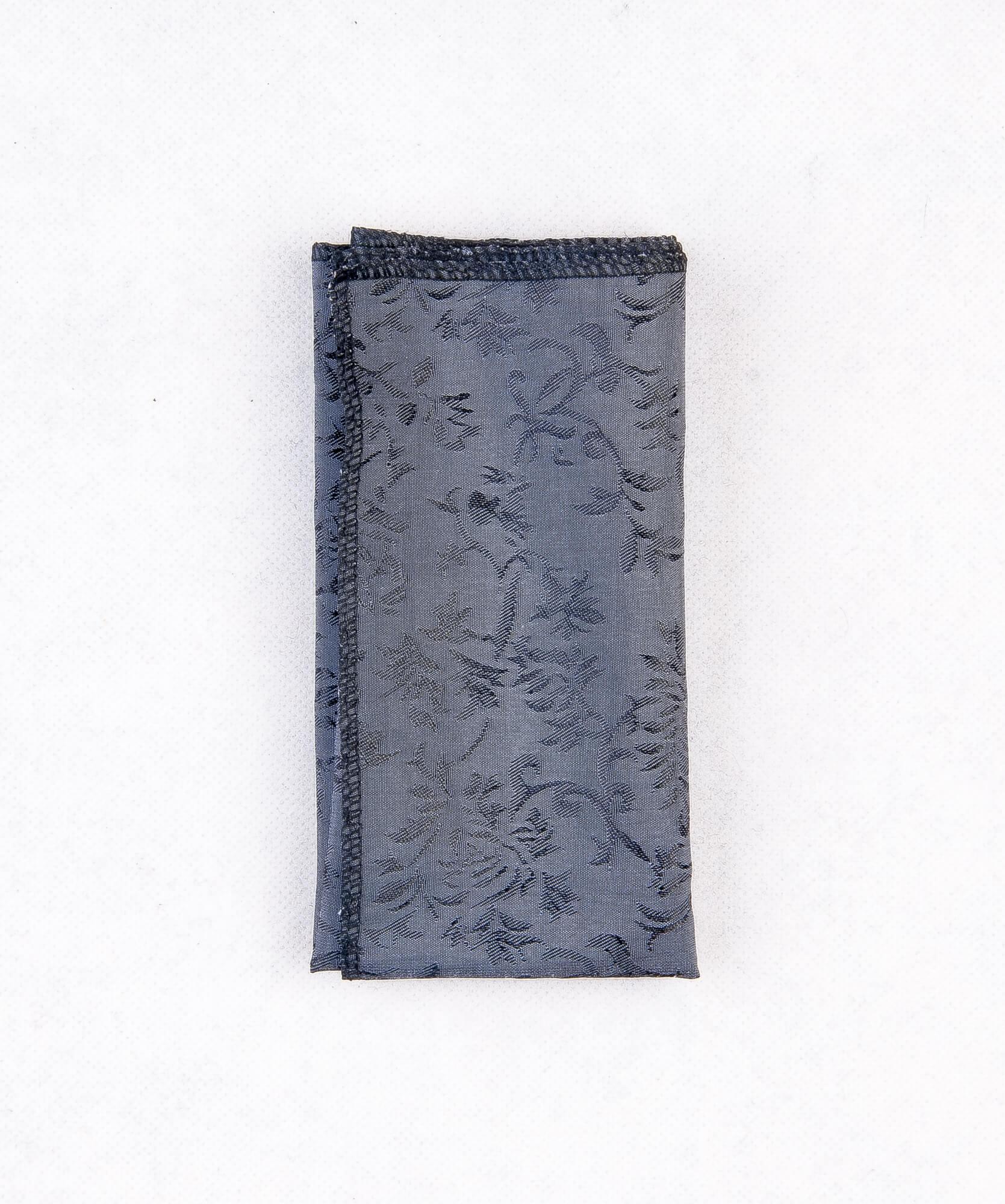 دستمال جیب طرح دار رنگ خاکستری PS1012