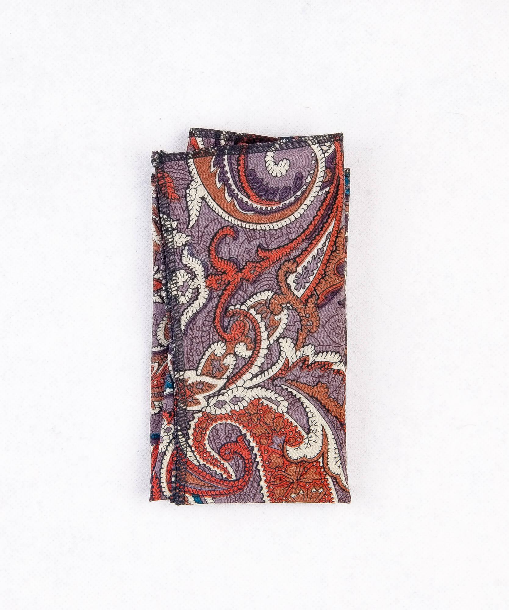 دستمال جیب طرح دار رنگ قرمز PS1005