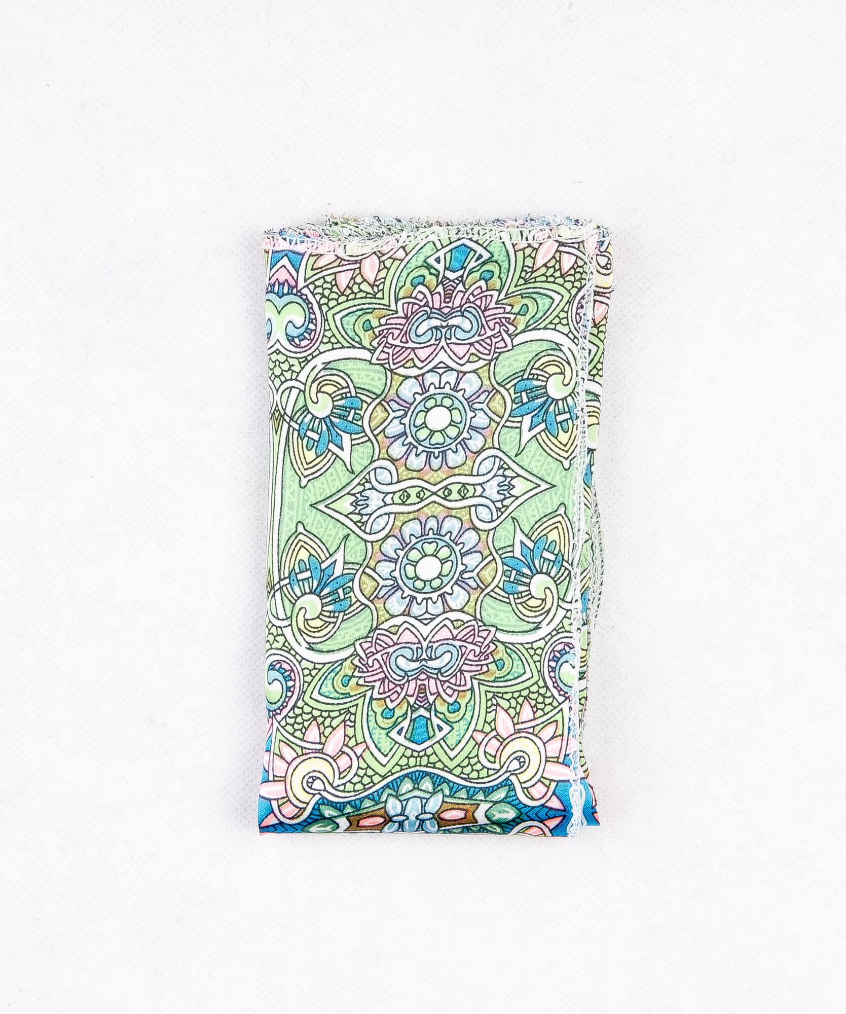 دستمال جیب طرح دار رنگ سبز PS1004