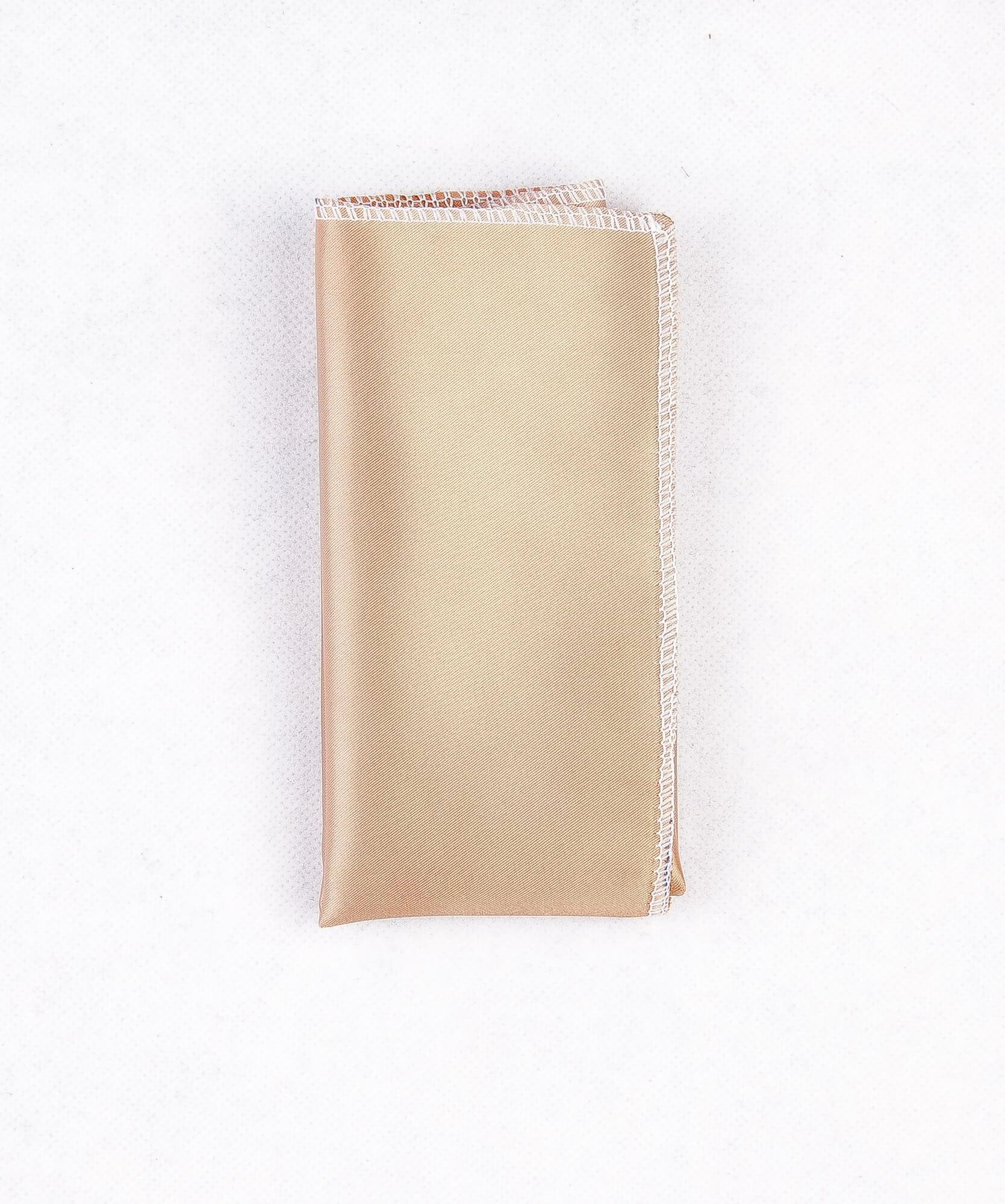 دستمال جیب طرح ساده رنگ طلایی PS1001
