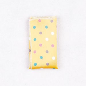 دستمال جیب طرح خالدار رنگ زرد PS1025