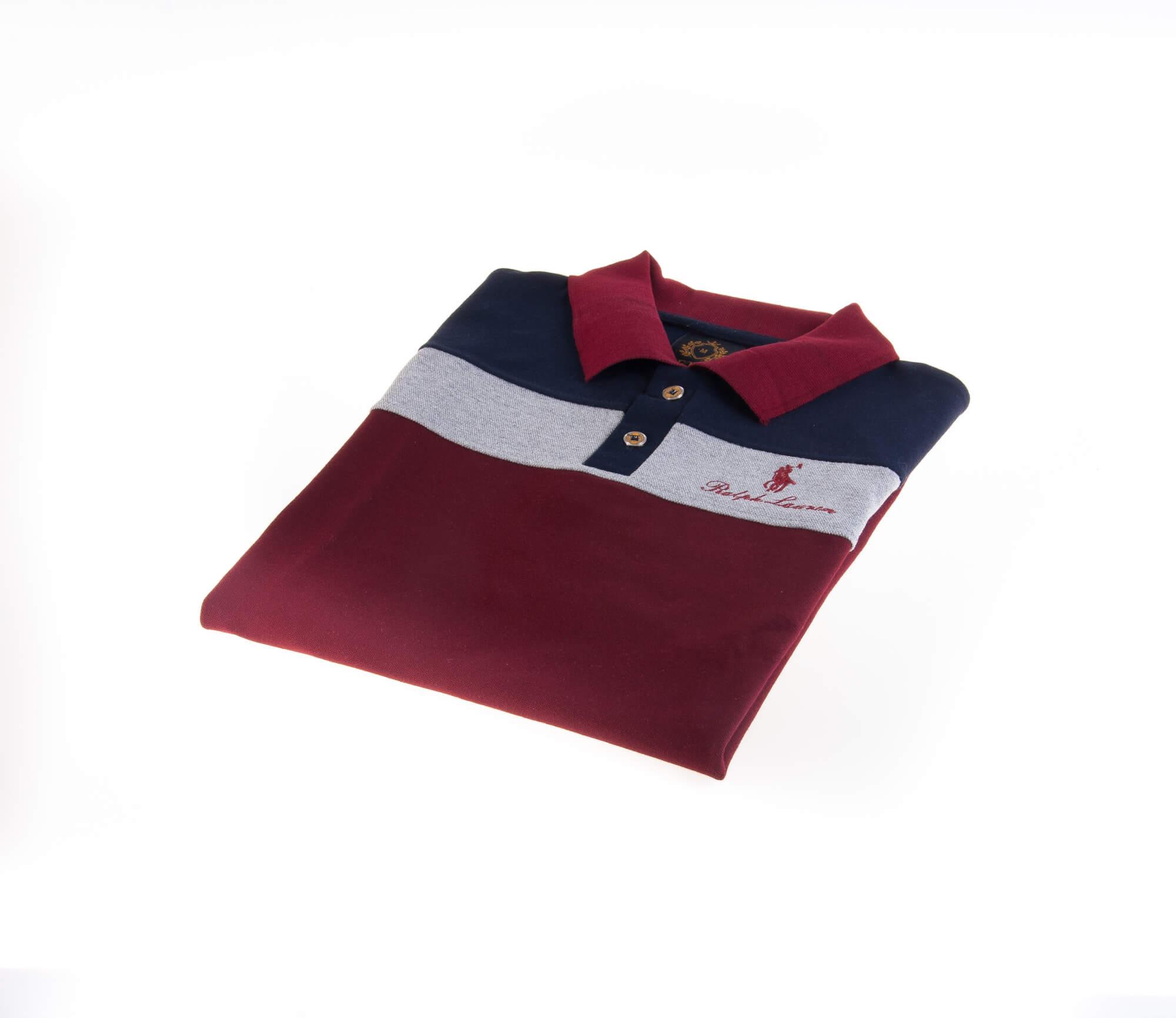 تی شرت یقه دار مردانه طرح PS1077-U.S POLO