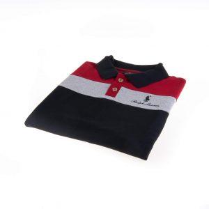 تی شرت یقه دار مردانه طرح PS1075-U.S POLO