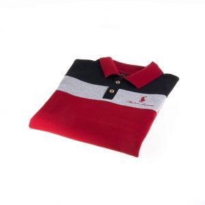 تی شرت یقه دار مردانه طرح PS1074-U.S POLO