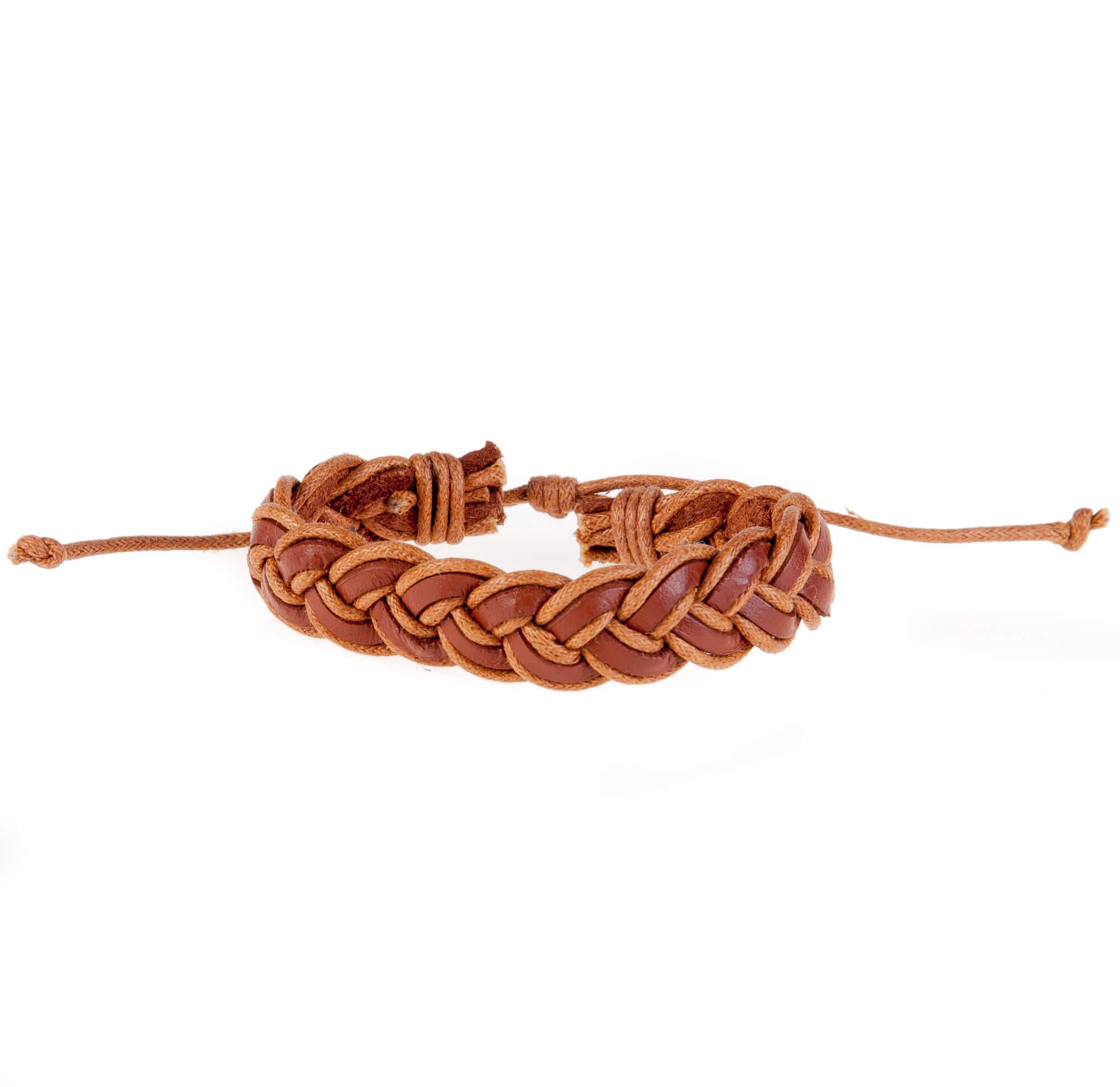 دستبند چرمی-کنفی مردانه KM1001