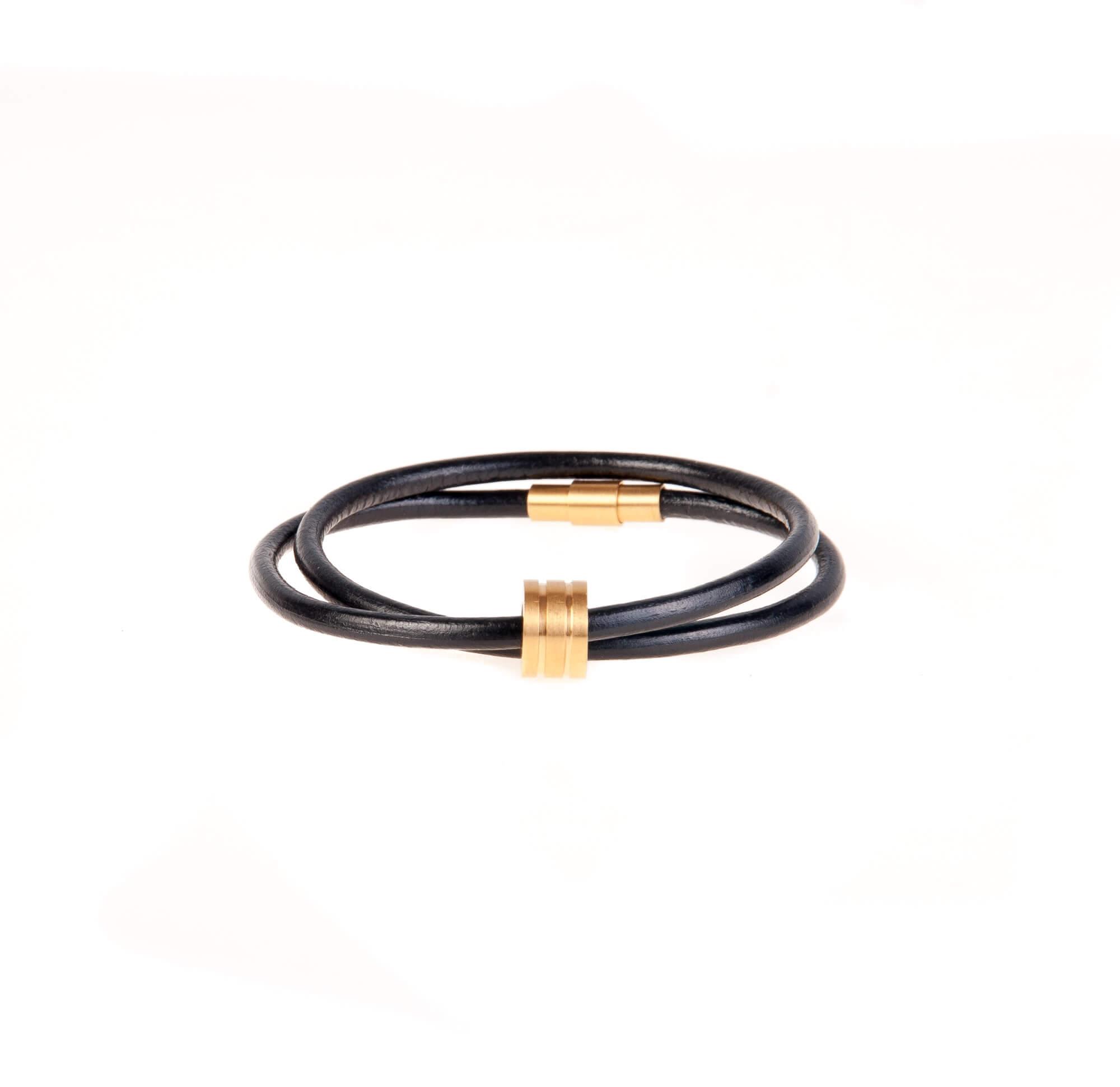 دستبند چرمی-فلزی مردانه MM1002