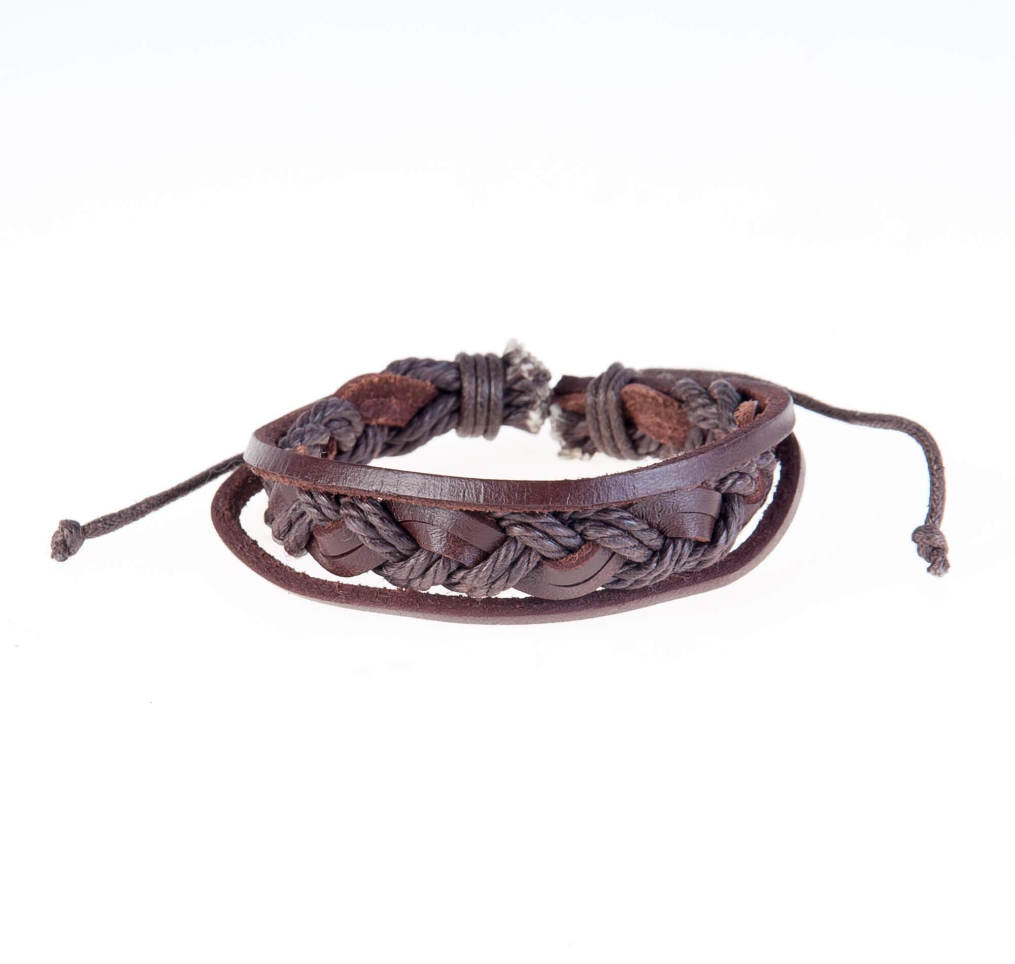 دستبند چرمی- کنفی KM1006