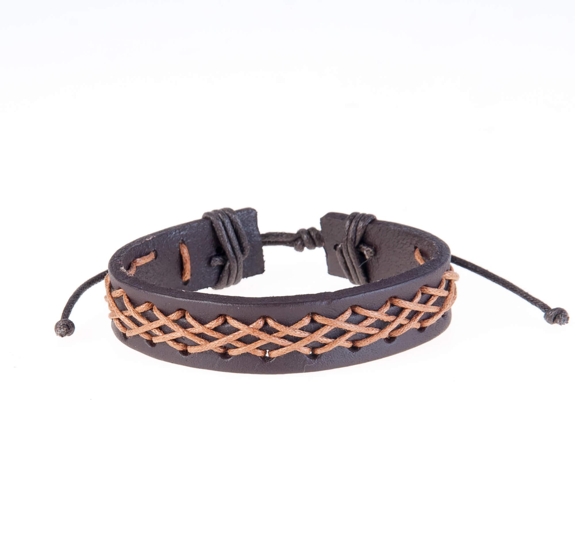 دستبند چرمی-کنفیKM1007