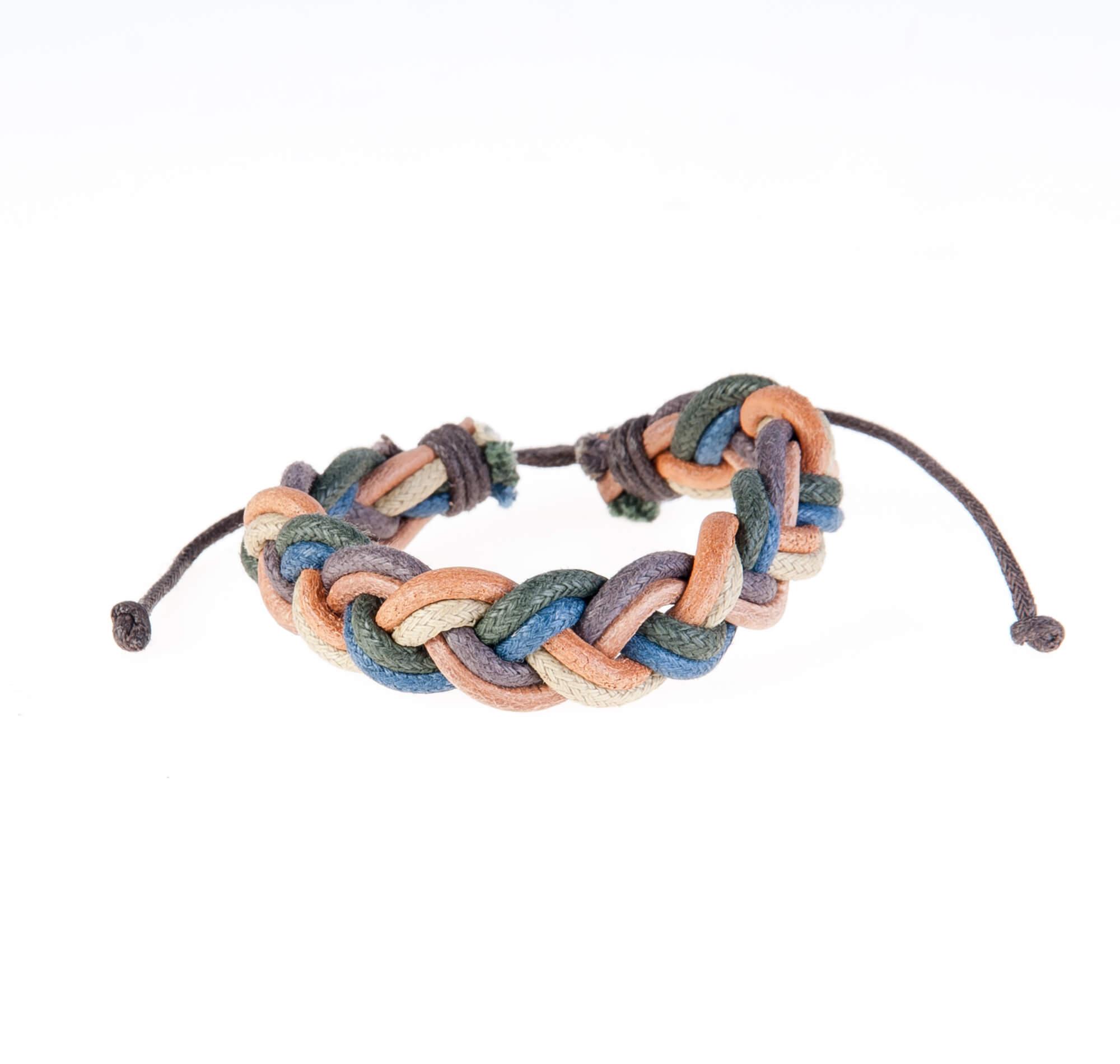 دستبند چرمی-کنفیKM1008