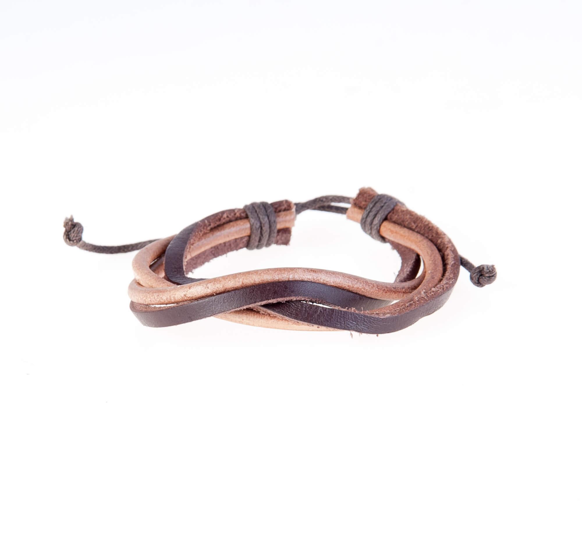 دستبند چرمی-کنفی KM1009