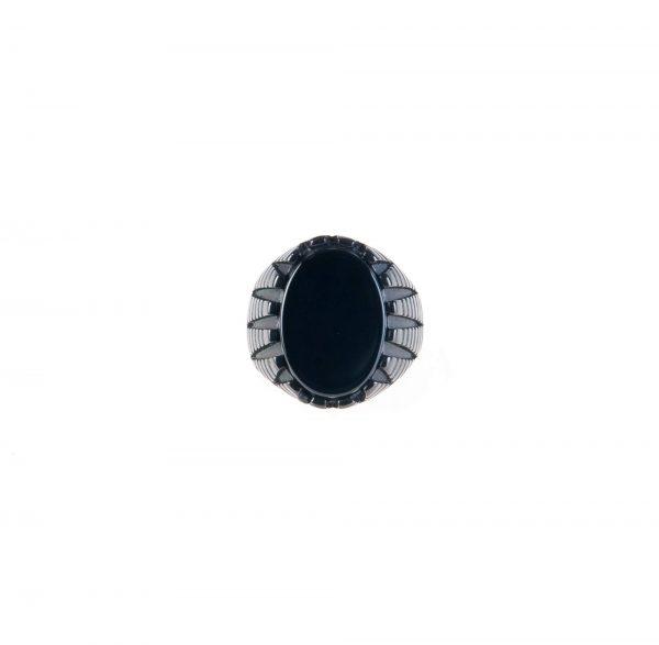 انگشتر مردانه استیل مشکی کد RI1001
