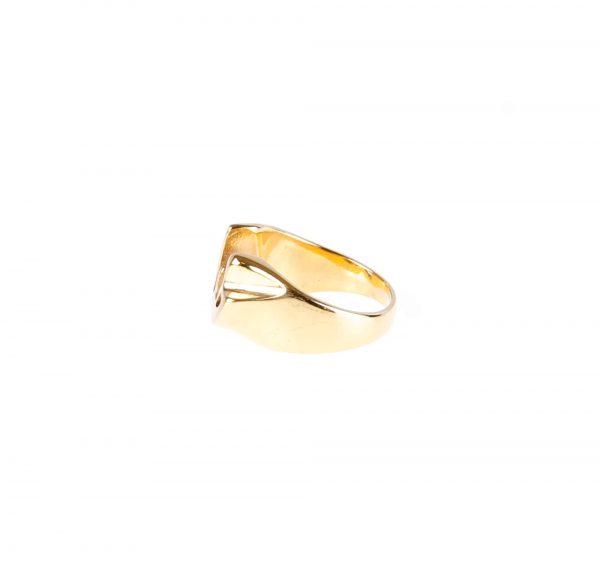 انگشتر مردانه استیل طلایی با طرح خدا کد RI1006