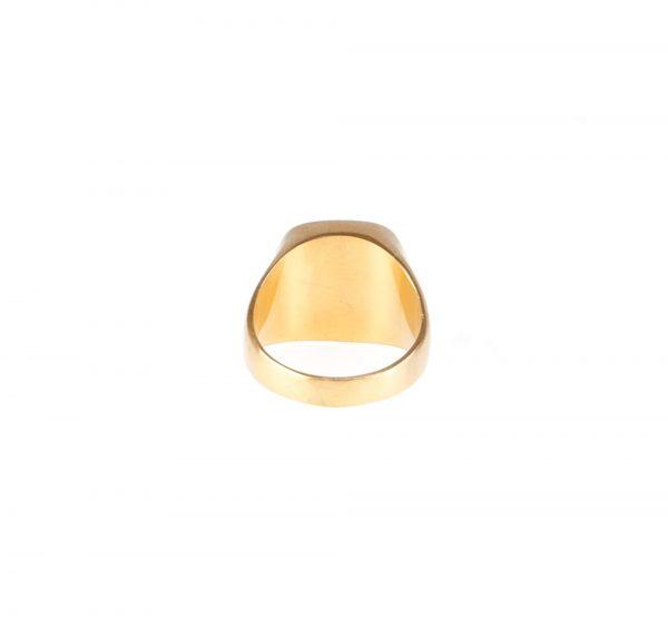 انگشتر مردانه استیل طلایی MONT BLANC کد RI1007