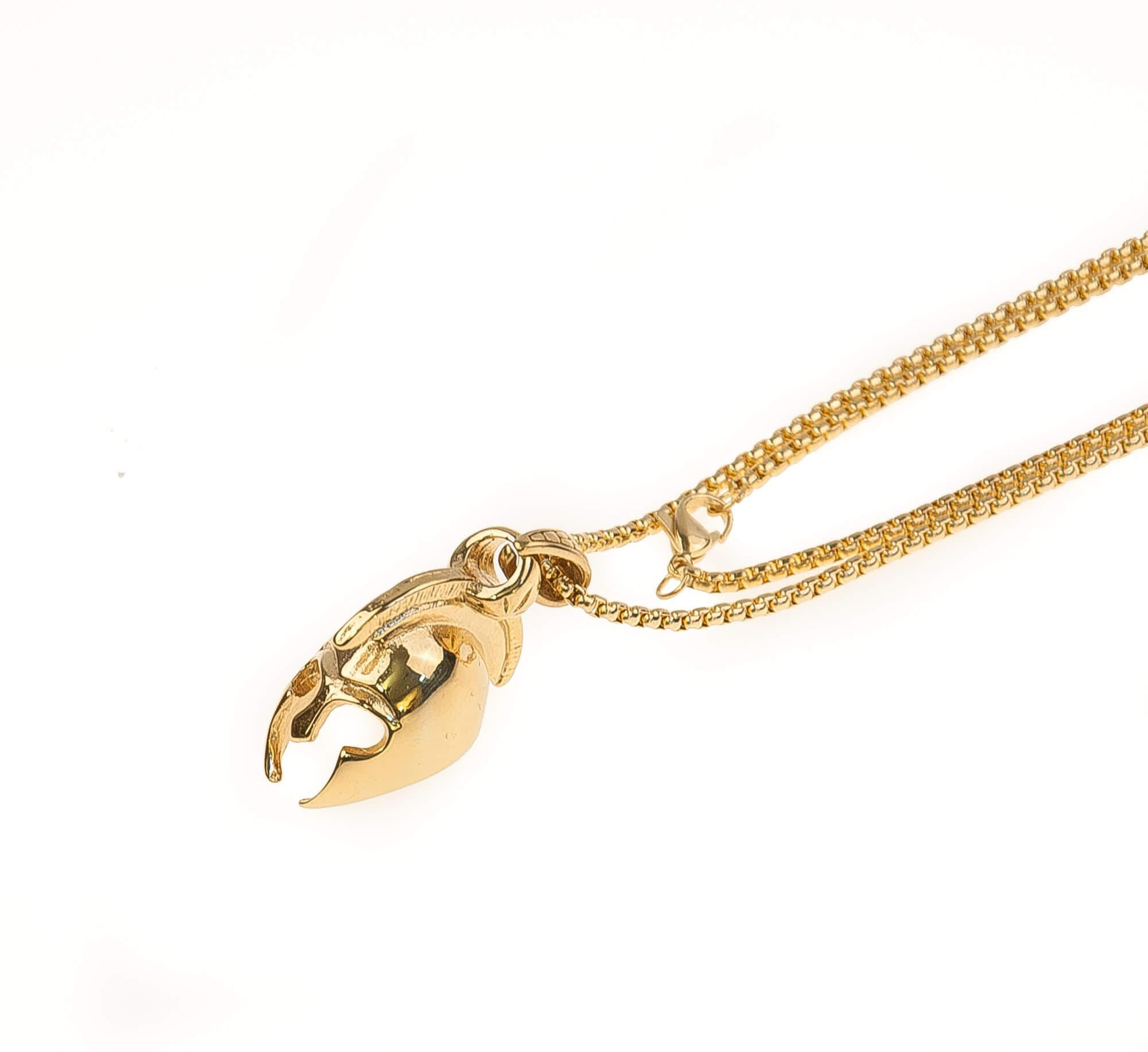 گردنبند استیل طلایی با طرح طلایی NM1030