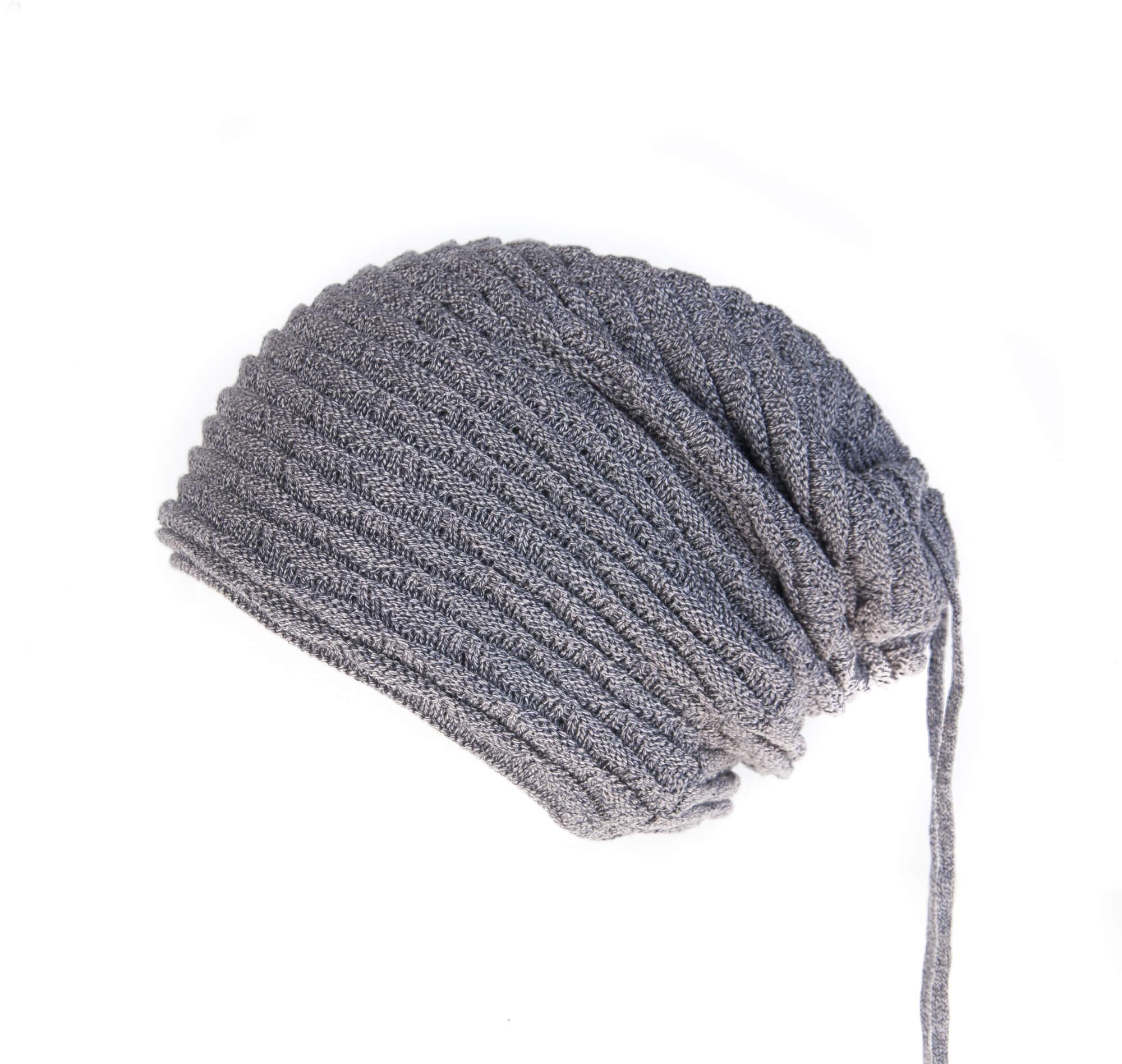 کلاه مردانه بافتنی دو سر باز – پشمی خاکستری HO1004