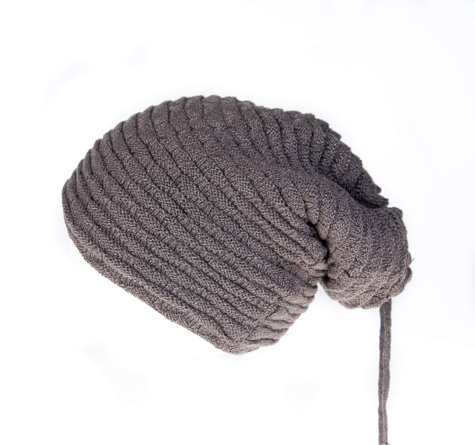 کلاه مردانه بافتنی دو سر باز – پشمی خاکستری HO1002