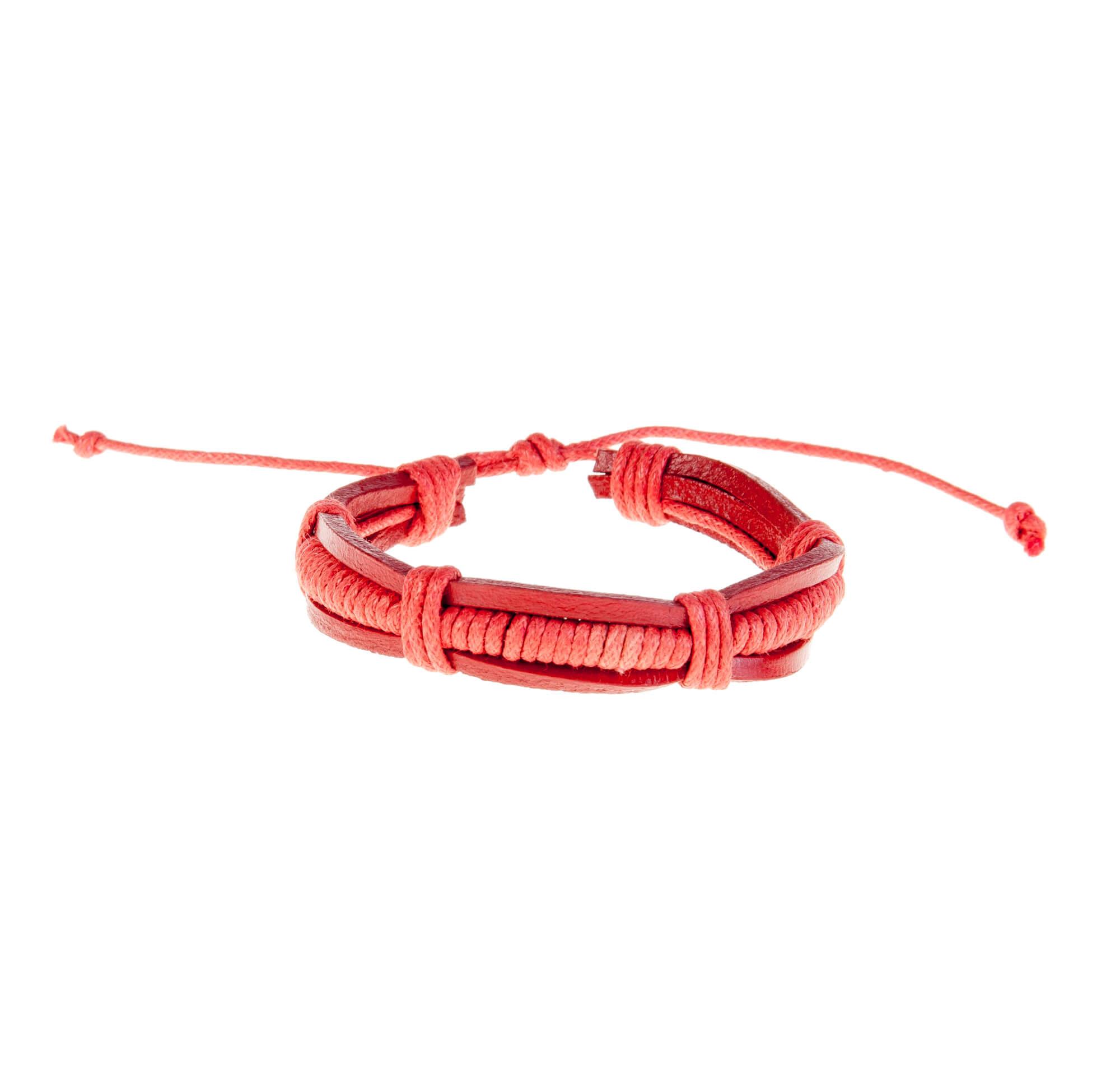 دستبند چرمی-کنفی مردانه KM1005