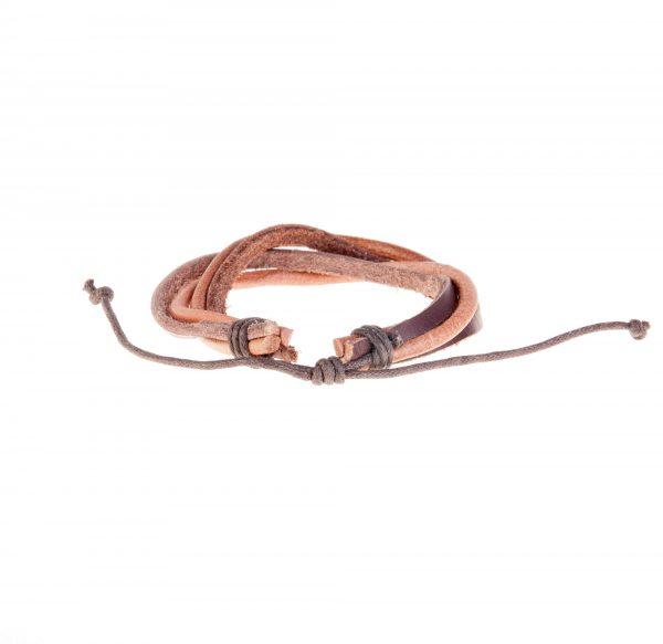 دستبند چرمی-کنفی مردانه LM1007