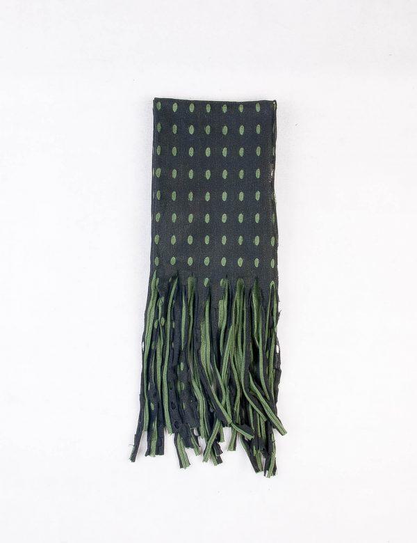 شال گردن مردانه طرح دار مشکی-سبز