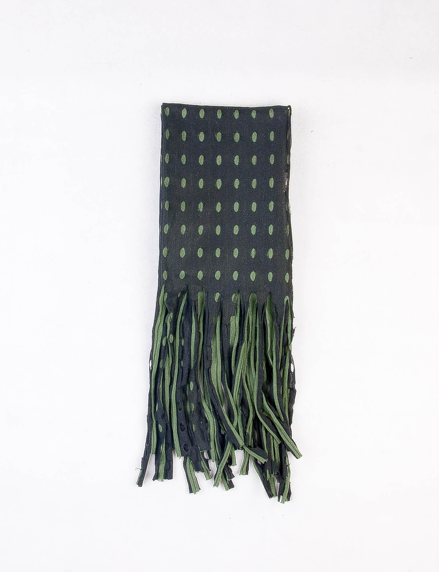 شال گردن مردانه طرح دار مشکی-سبز SH1006