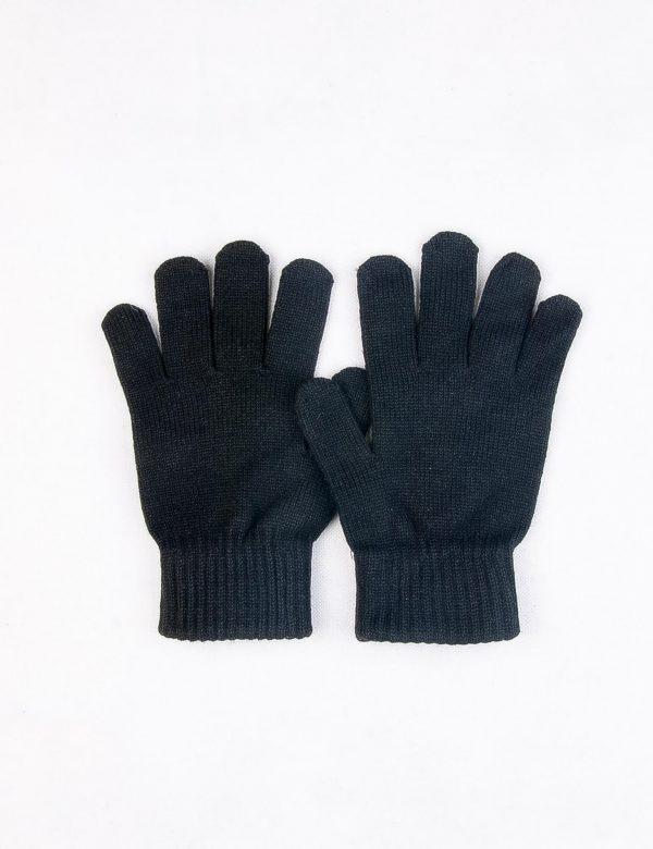 دستکش بافت مردانه ساده مشکی