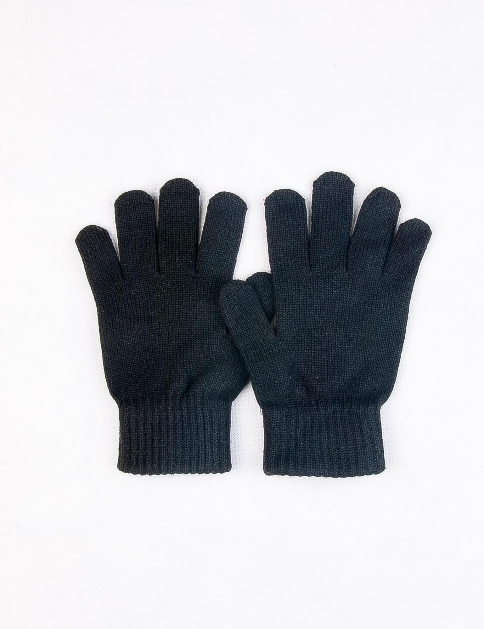 دستکش بافت مردانه ساده مشکی DP1004