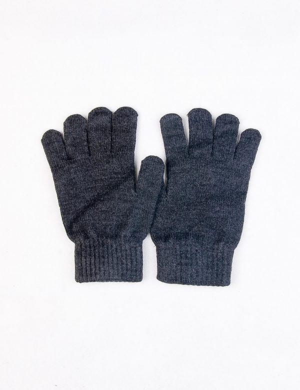 دستکش مردانه ساده خاکستری