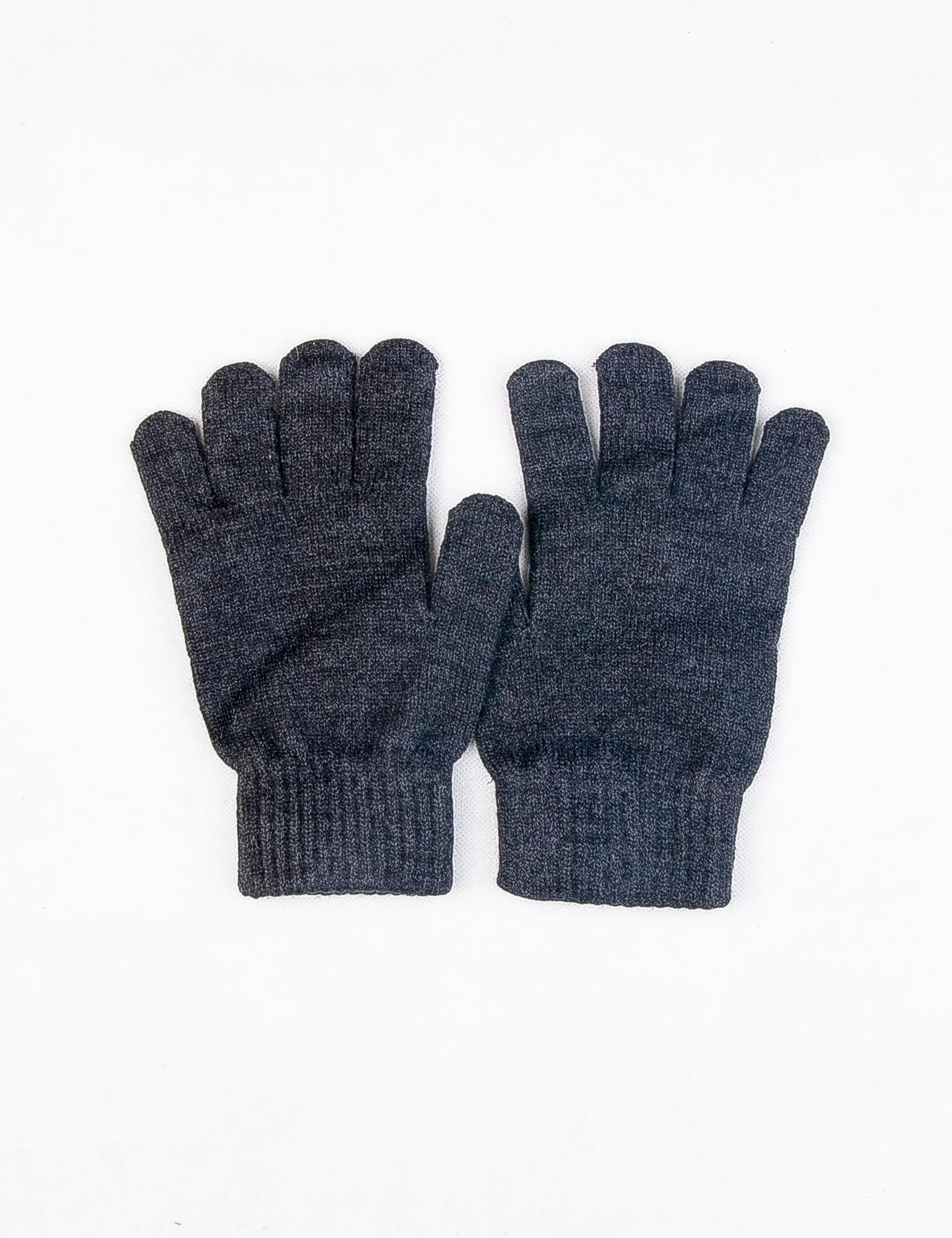 دستکش مردانه ساده خاکستری DP1002