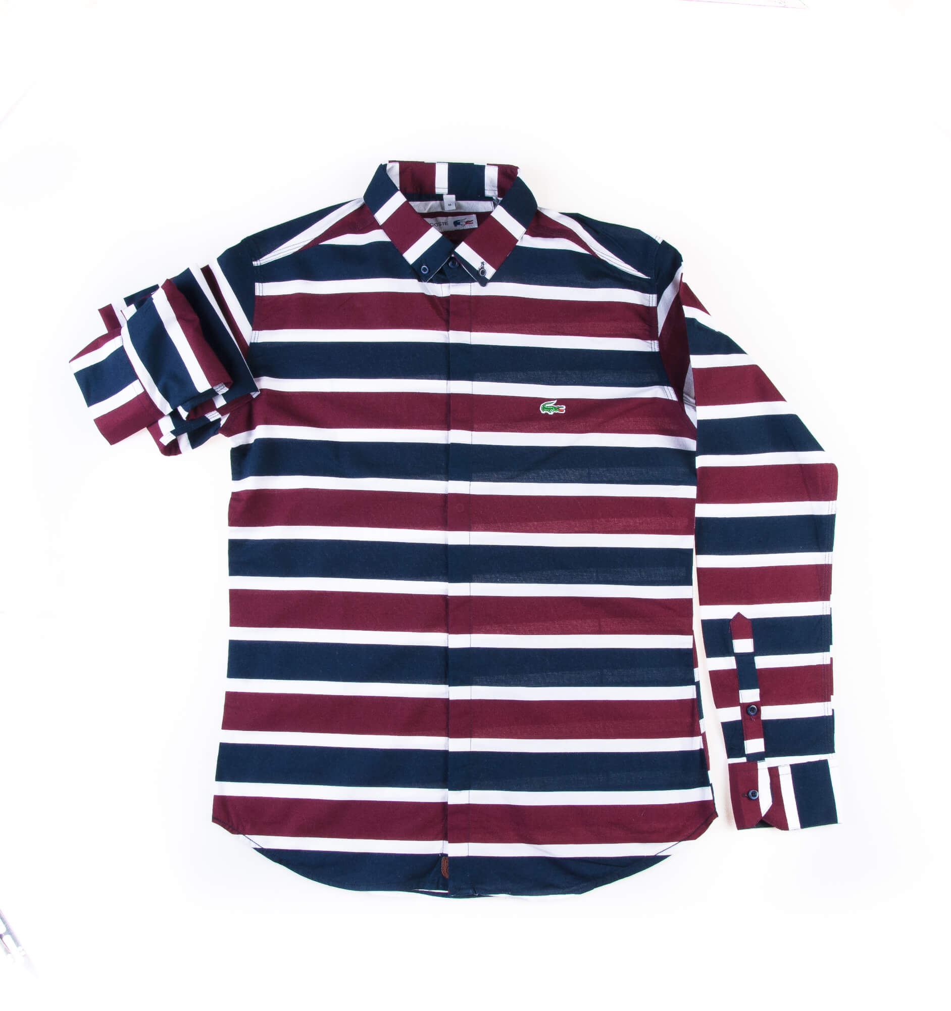 پیراهن مردانه طرح لاکوست راه راه P1006