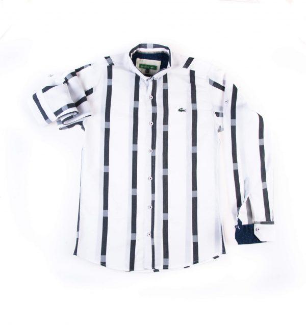 پیراهن مردانه طرح P1014- LACOSTE