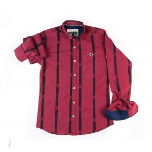 پیراهن مردانه طرح P1013- LACOSTE
