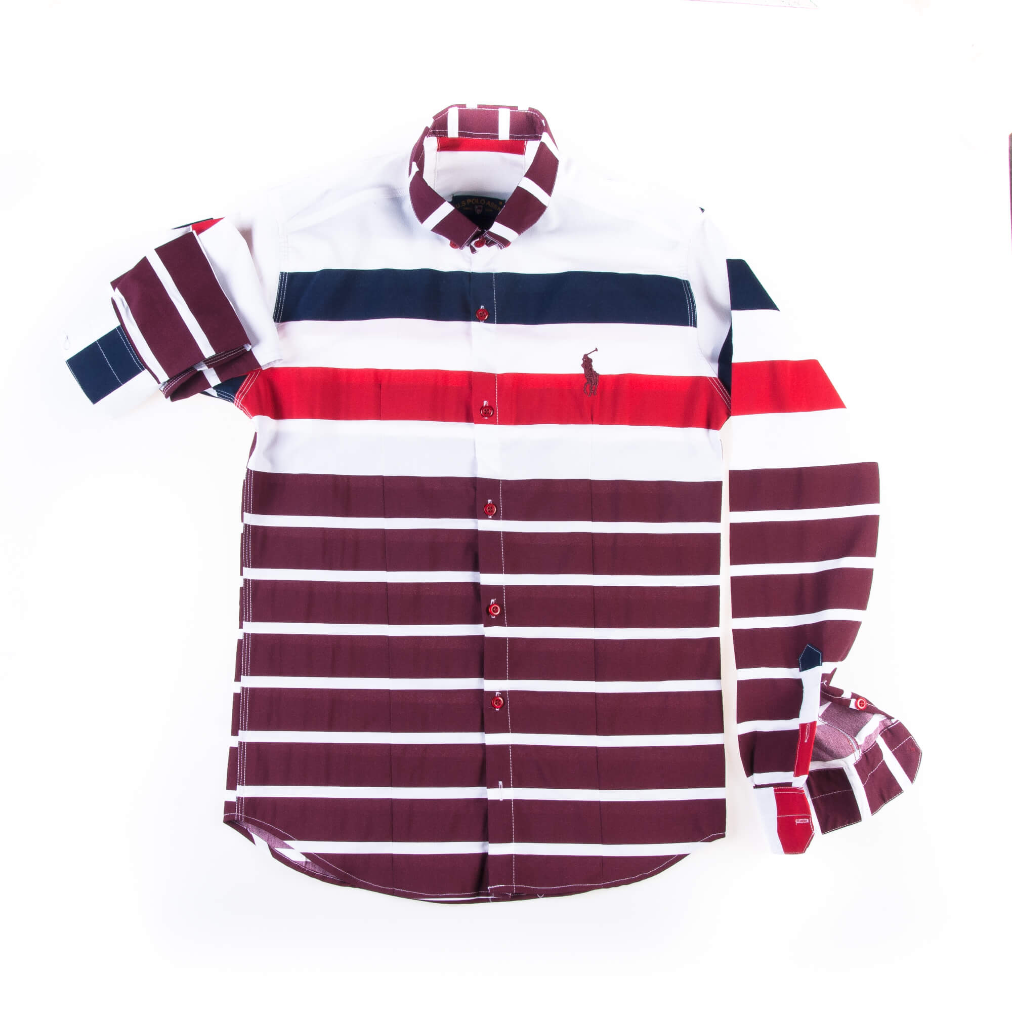 پیراهن مردانه طرح دار راه راه P1007