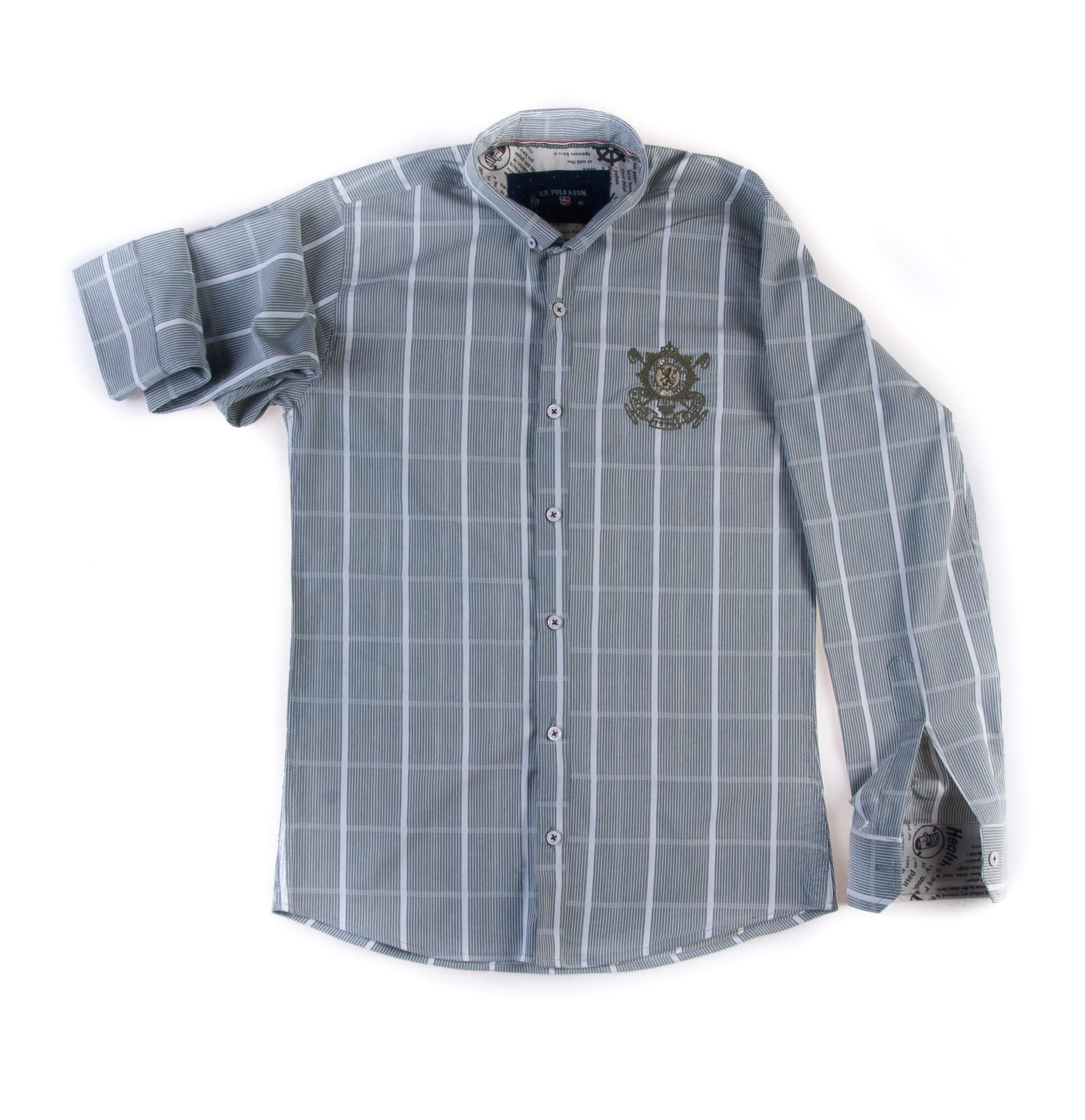 پیراهن طرحدار مردانه چهار خانه P1019