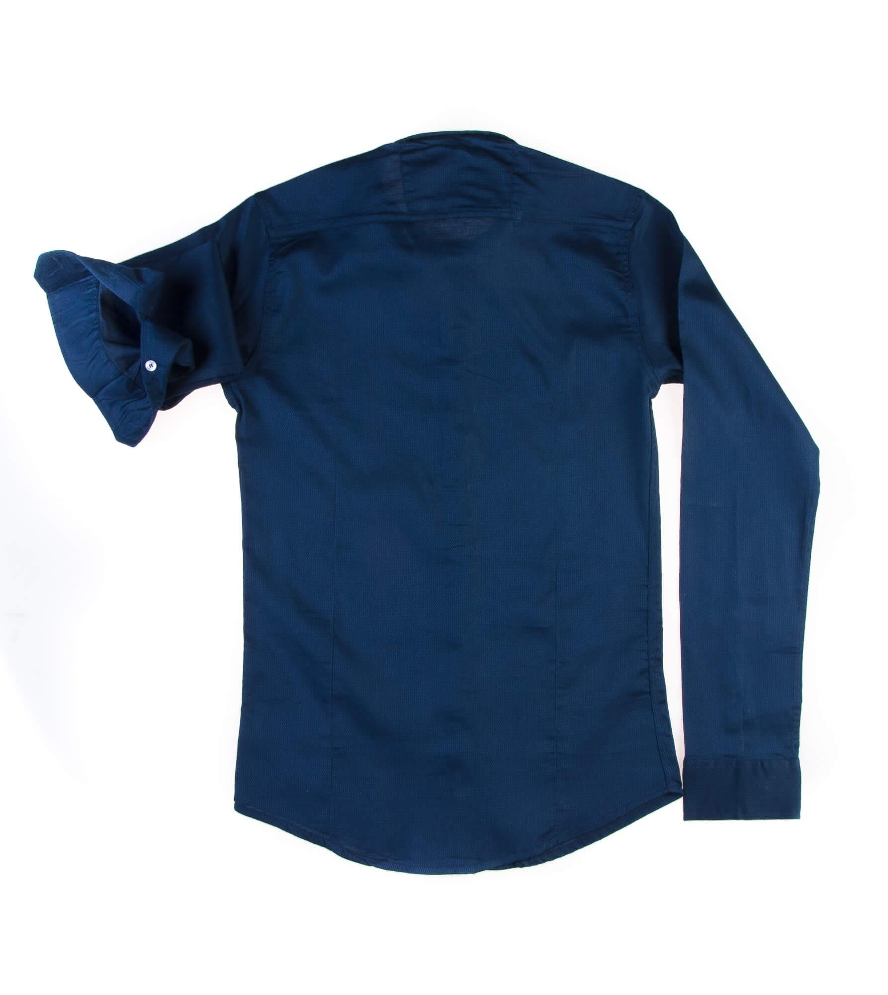 پیراهن ساده مردانه سورمه ای P1012- MASSIMO DUTTI