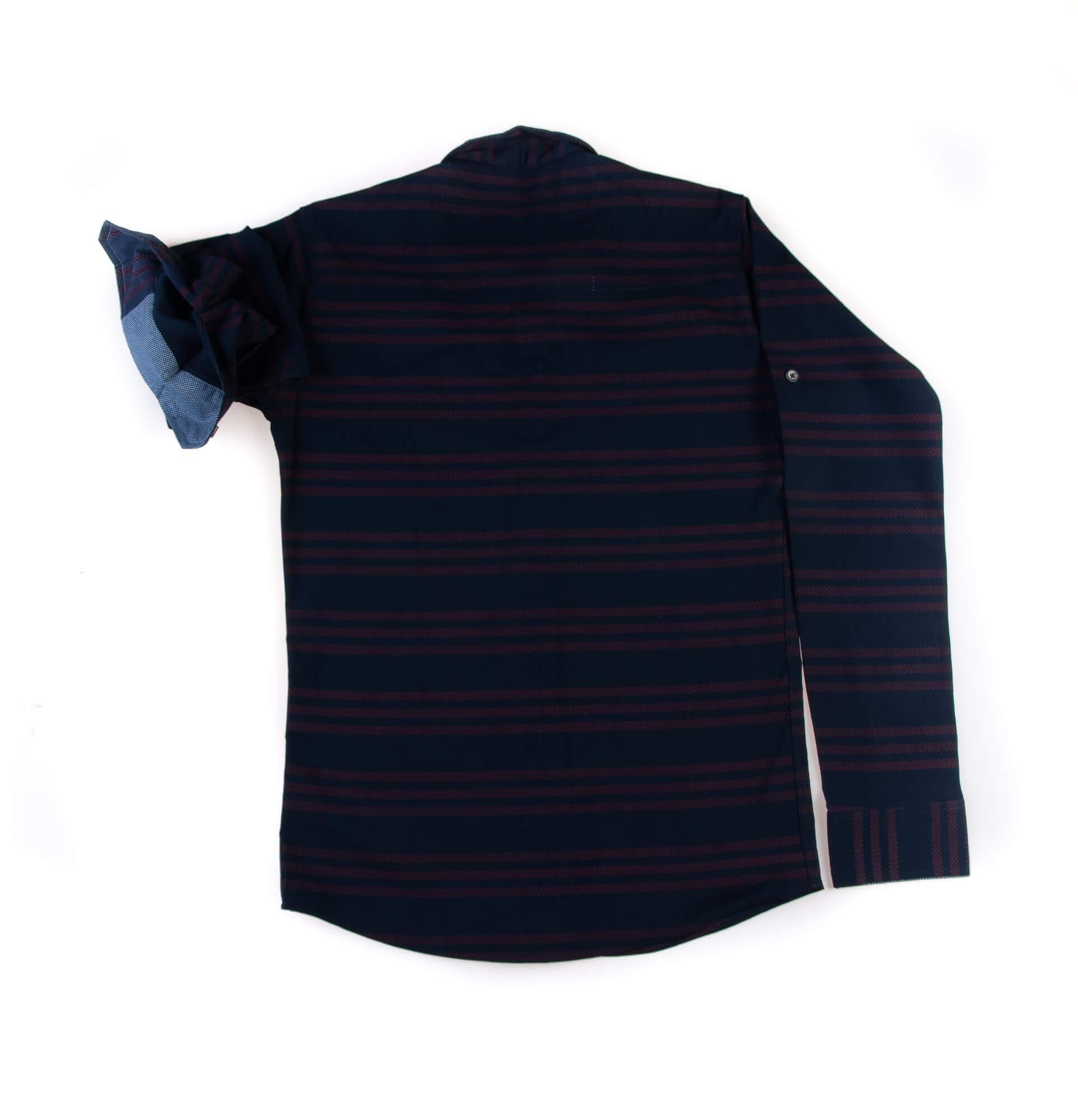 پیراهن طرح دار مردانه P1009