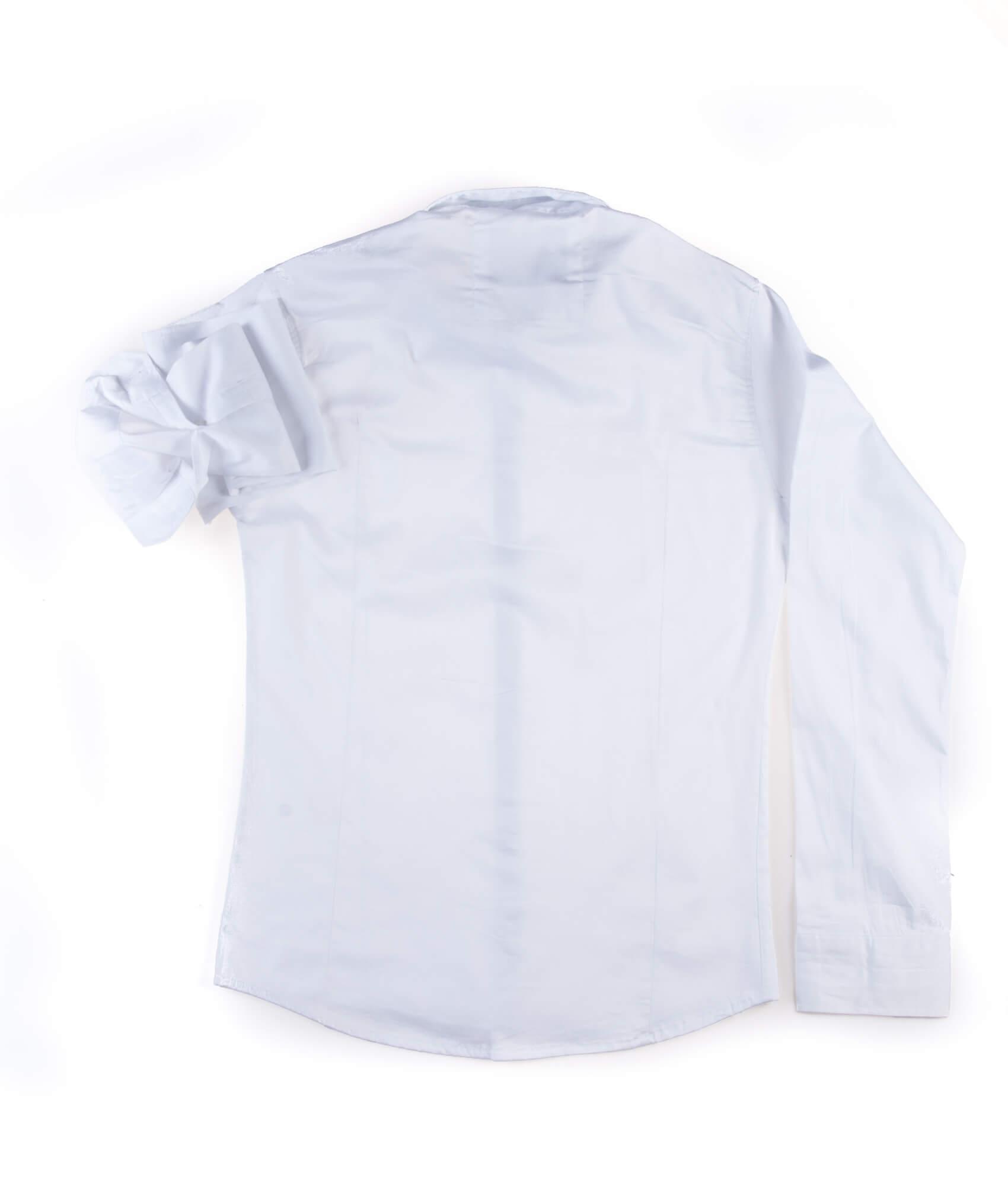 پیراهن ساده مردانه سفید اترو P1008